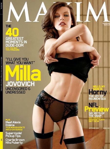Milla Jovovich Maxim September 2009